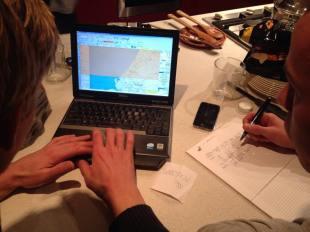 Voorbereiding voor de offshore route